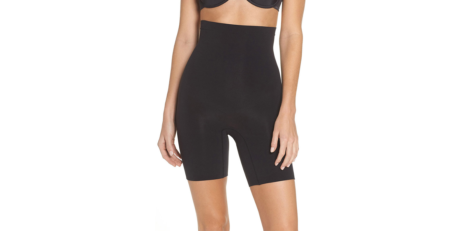 Best Shaping Shorts: Spanx Higher Power Mid-Thigh Shaping Shorts (Shapewear Nordstrom)