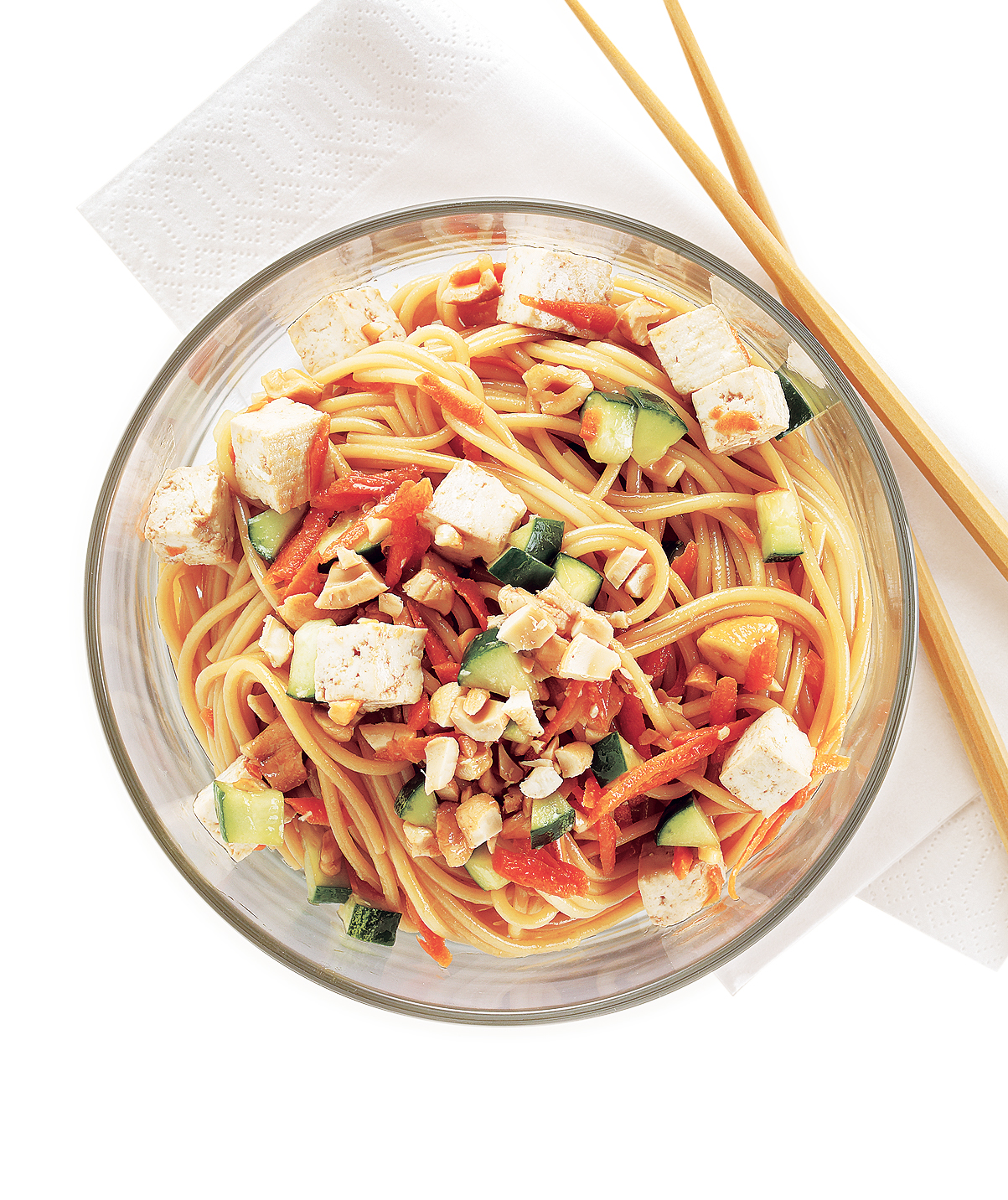 Cool Asian Noodles With Tofu and Cashews