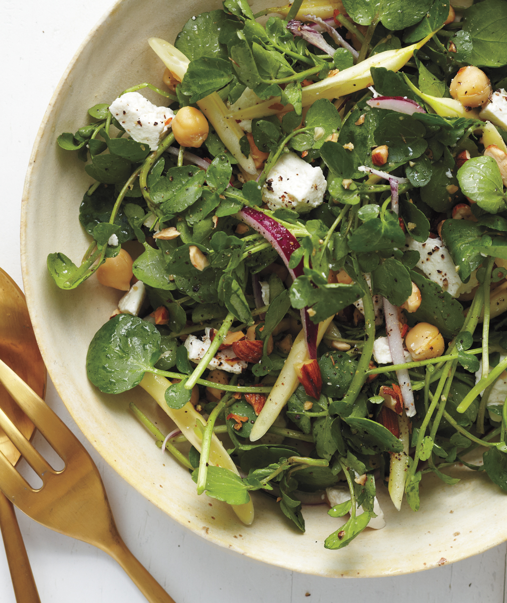 Watercress and Bean Salad With Almonds and Ricotta Salata