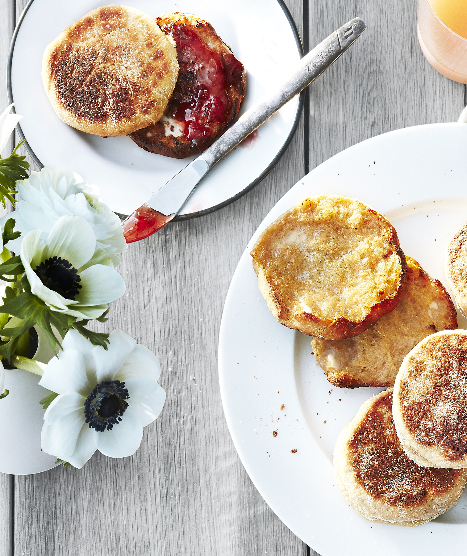 Honey Whole-Wheat English Muffins