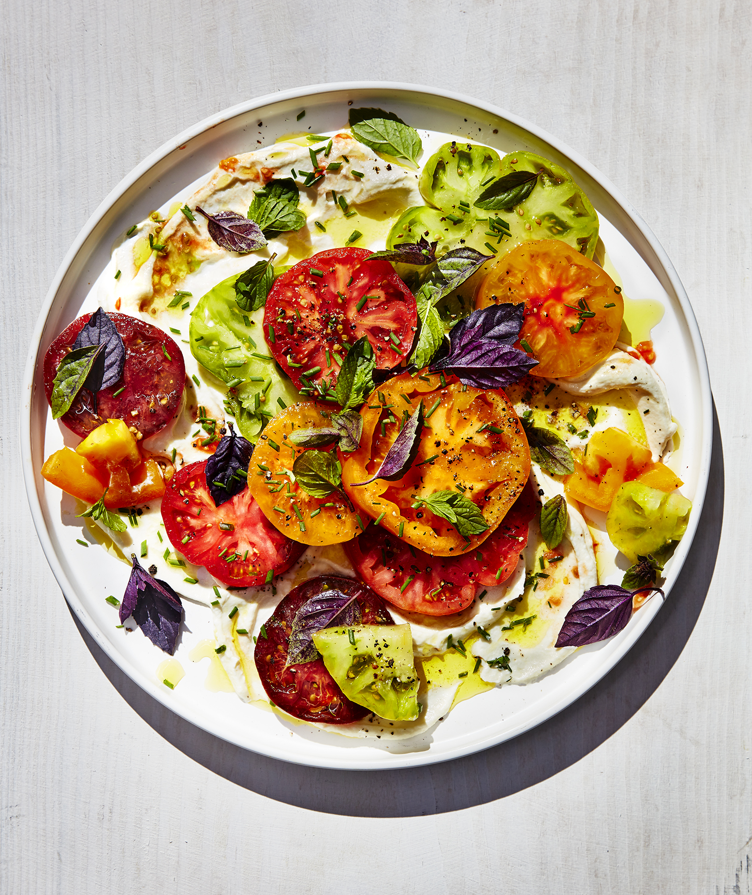 Tomato With Ricotta and Herbs