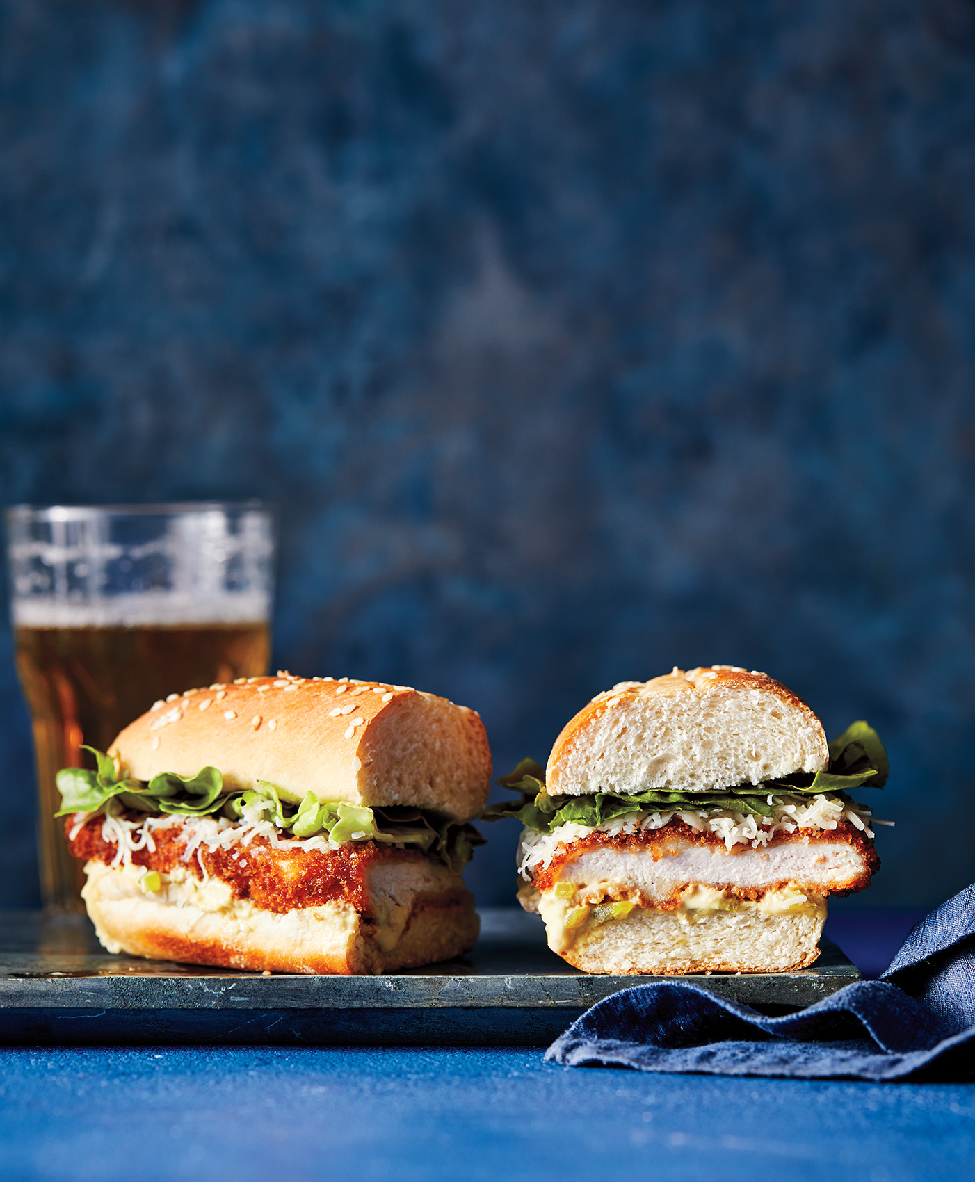 Crispy Chicken-And-Cheddar Sandwich With Pickle Dijon
