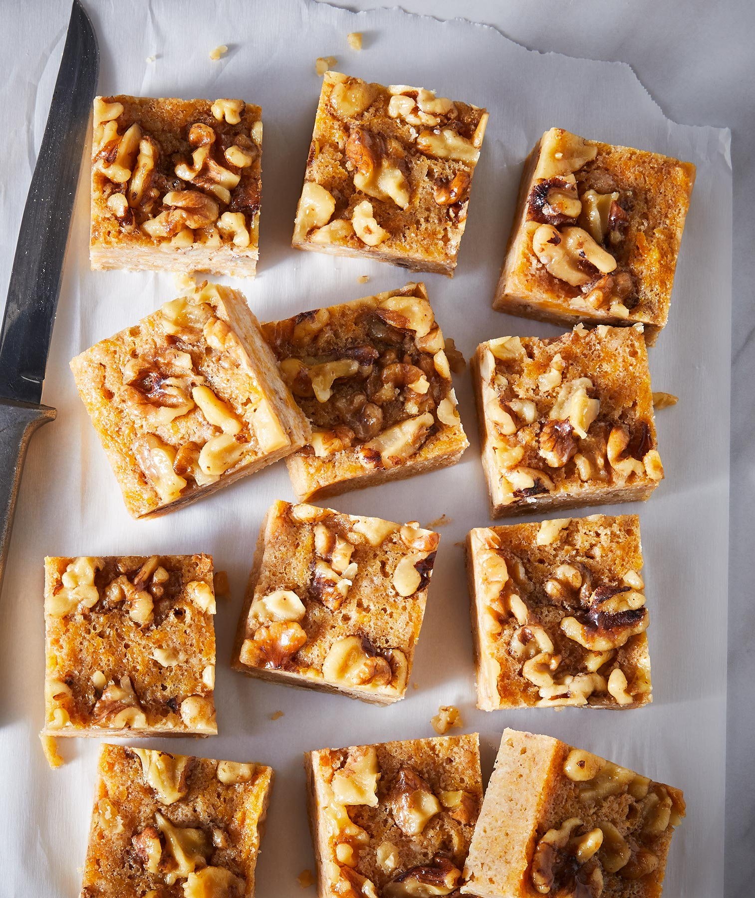 Butternut Blondies With Maple Walnuts Recipe Real Simple
