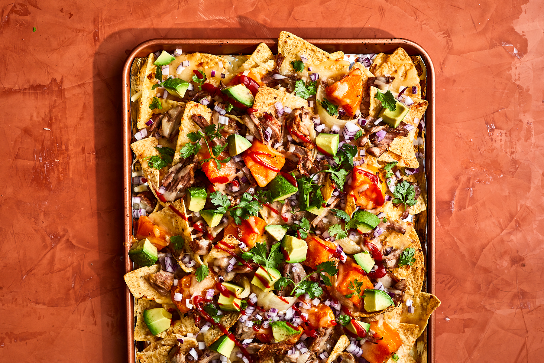 Braised Pork and Squash Nachos Recipe