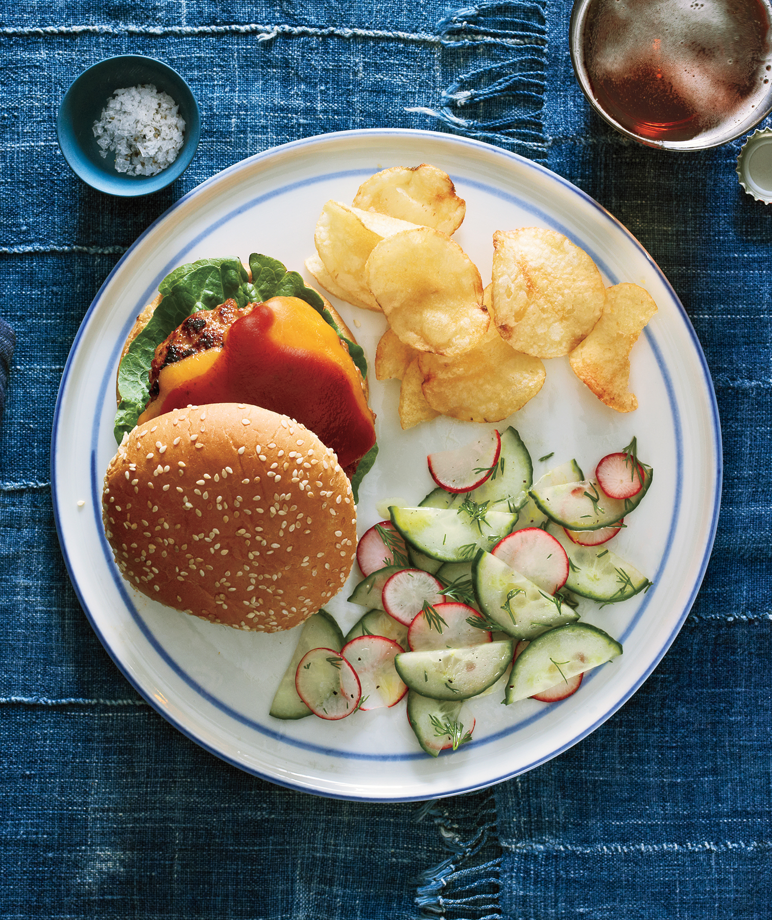 Fast Recipes: Barbecue Turkey Burgers With Cucumber Salad