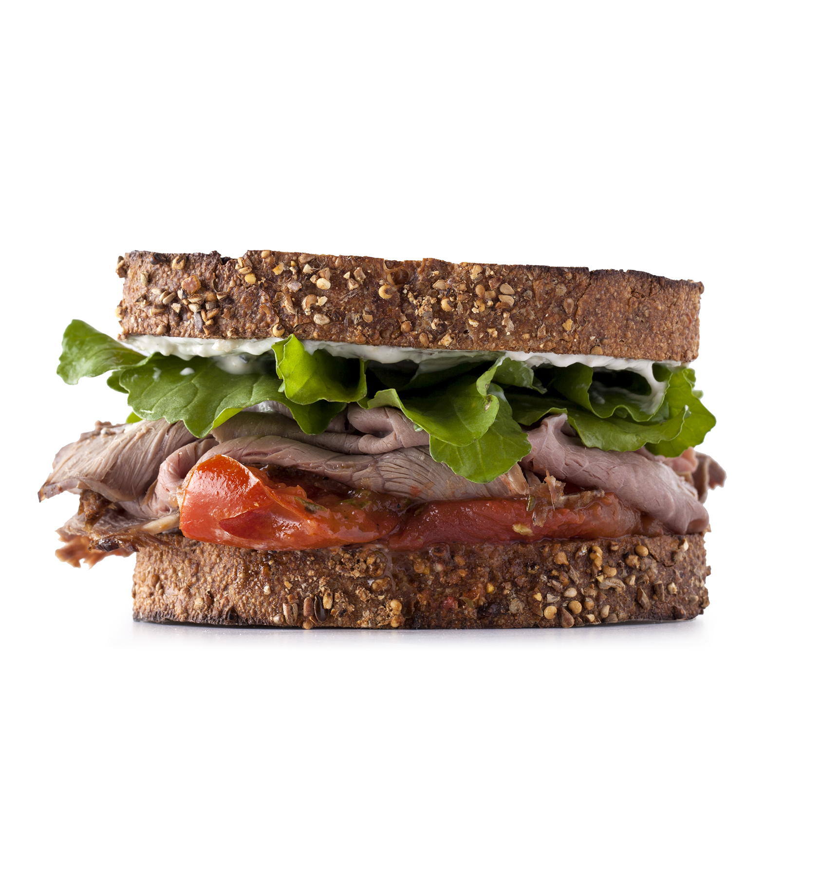 Roast Beef With Roasted Tomatoes Sandwich