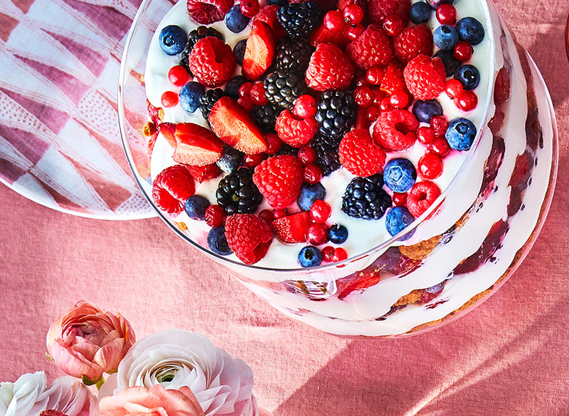 Summer Berry Trifle With Elderflower Cream Recipe