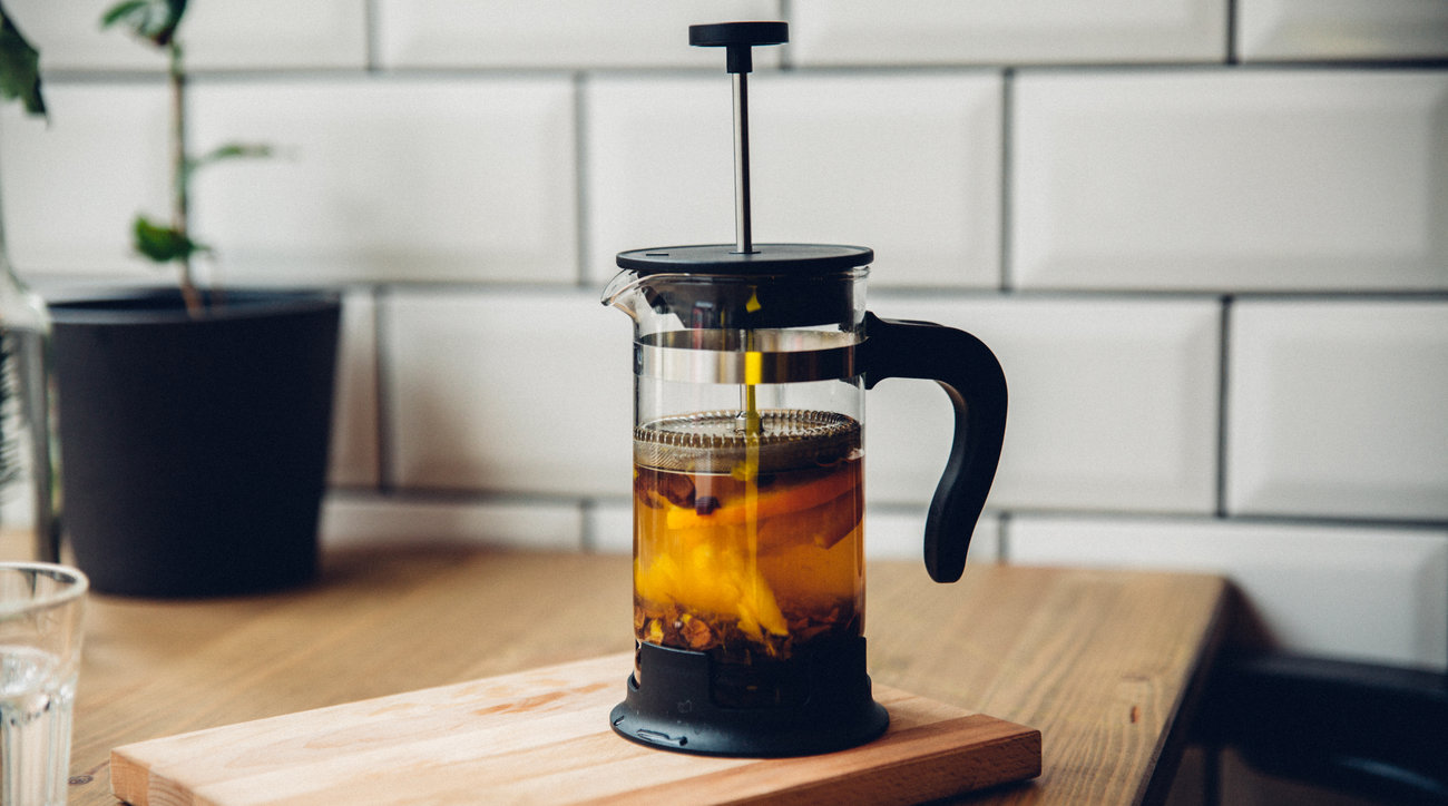 French press coffee, perfectly made at home