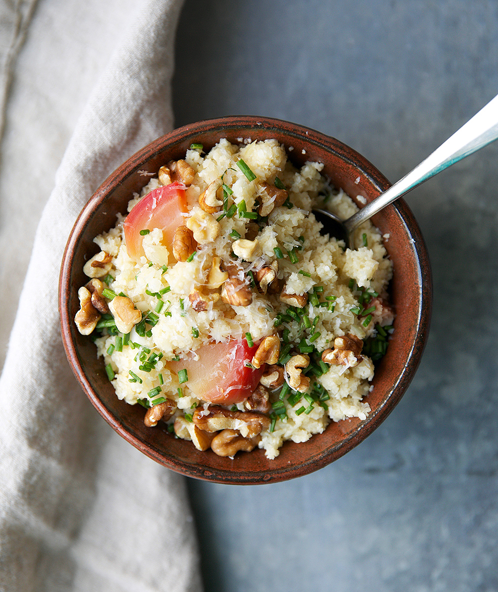 """Cauliflower Rice Recipe for """"Risotto"""" With Beets"""