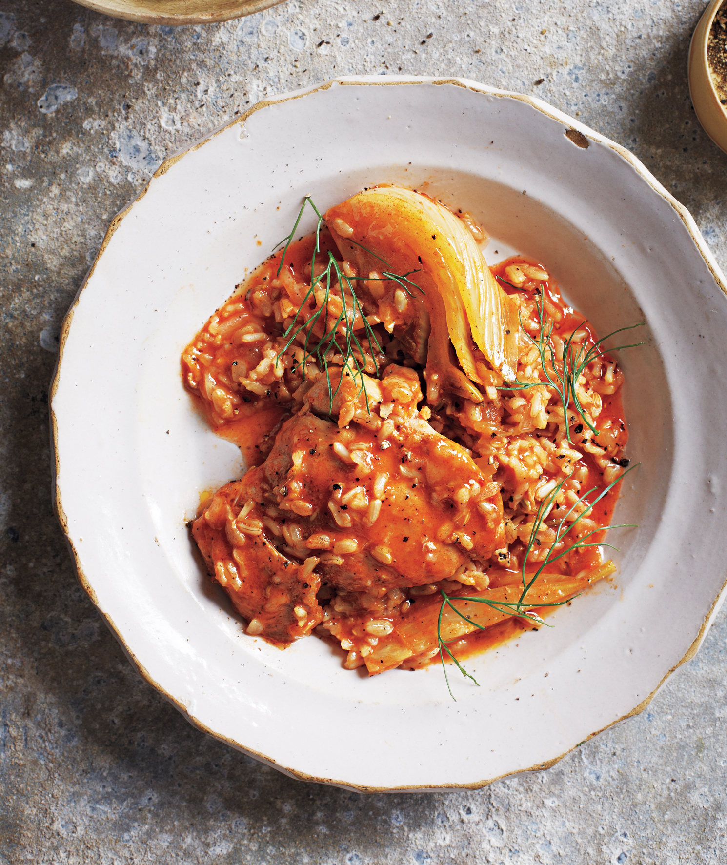 Slow-Cooker Smoky Braised Chicken and Fennel