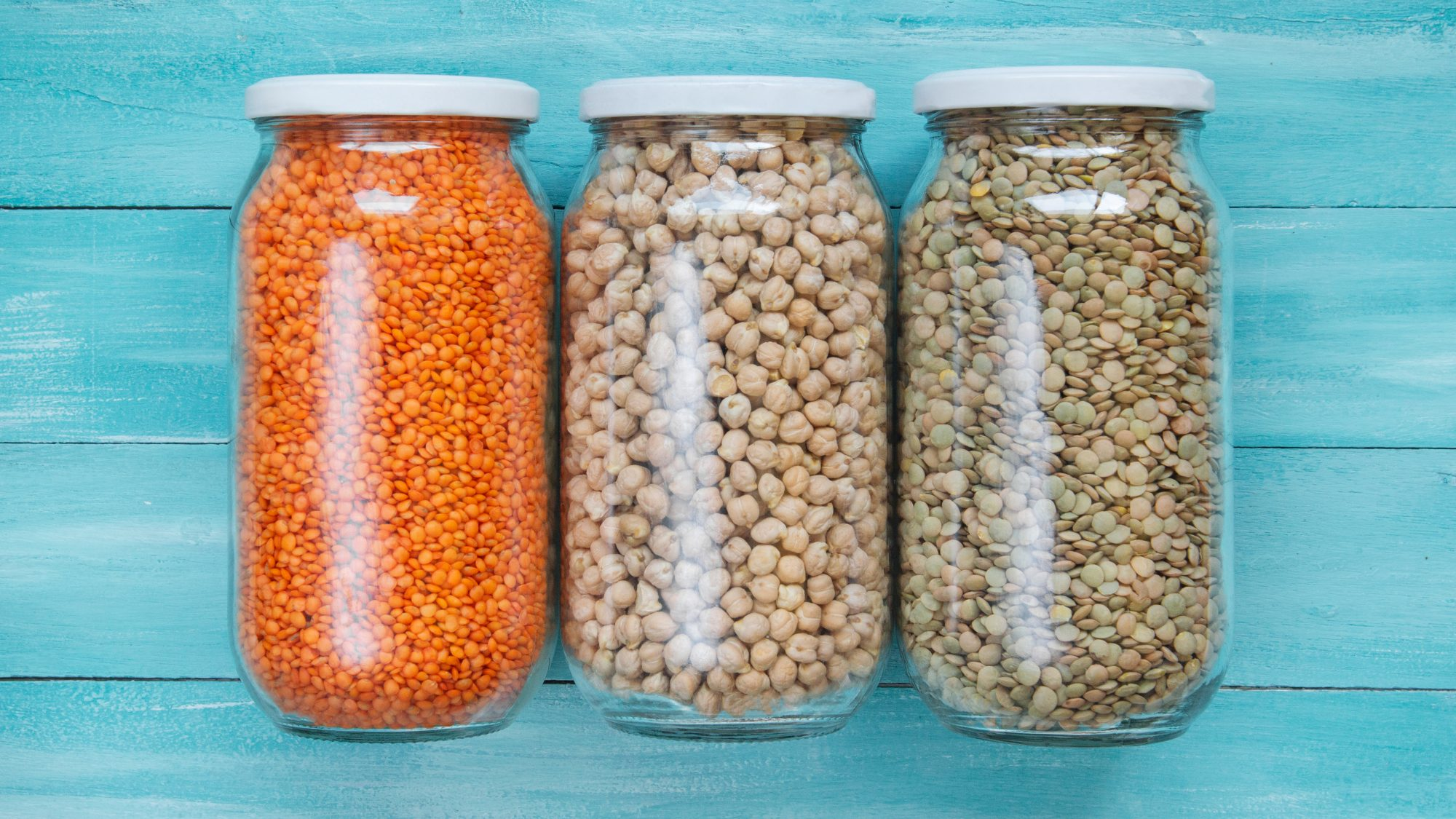 3 shelf-stable foods inside jars