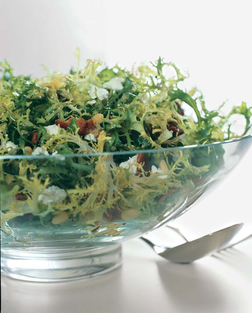 Frisee, Bacon, and Goat-Cheese Salad