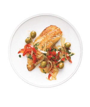 Tilapia With Peppers and Olives
