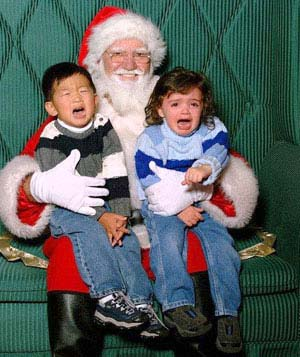 Cousins from the Cerny and LeMire families with Santa
