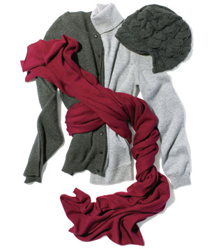 Grey Cashmere sweaters and accessories