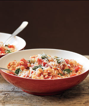 Creamy Barley With Tomatoes and Greens