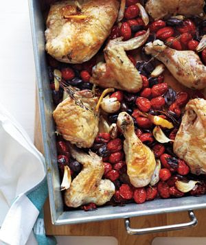 Roasted Chicken With Tomatoes and Olives Recipe