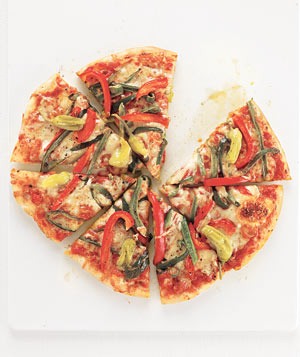 Spicy Three-Pepper Pizza