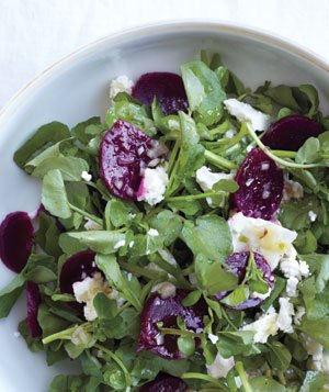 Watercress Salad With Beets and Feta