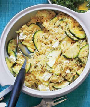 Orzo Salad With Zucchini and Feta