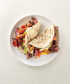 Grilled Beef and Pepper Fajitas