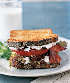 BLT with Goat Cheese
