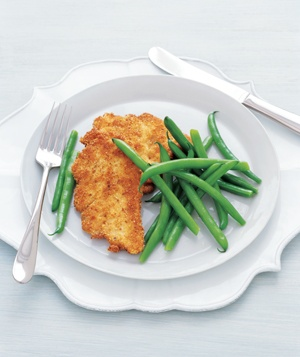 Chicken Cutlets and Buttered Green Beans
