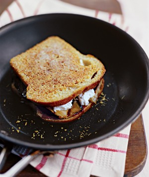 Eggplant Parmesan With Goat Cheese Sandwich