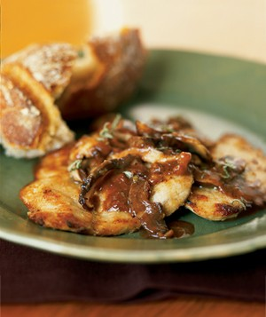 Veal Escalopes with Mushrooms