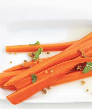 Pickled Carrots With Mint