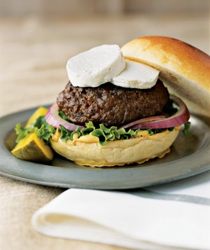 Hamburgers With Goat Cheese