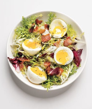 Friseé With Bacon and Soft-Cooked Eggs