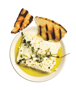 Grilled Feta With Thyme