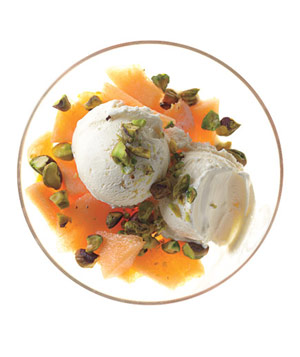 Cantaloupe Parfait With Salted Pistachios