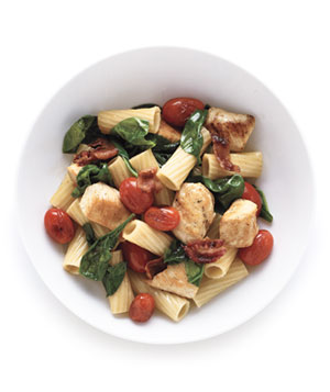 Pasta With Chicken and Bacon