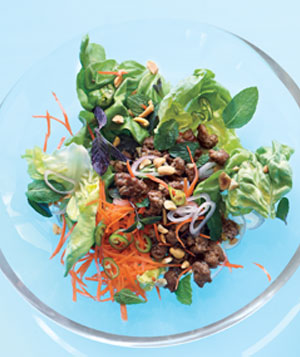 Thai Pork Salad With Chilies and Mint