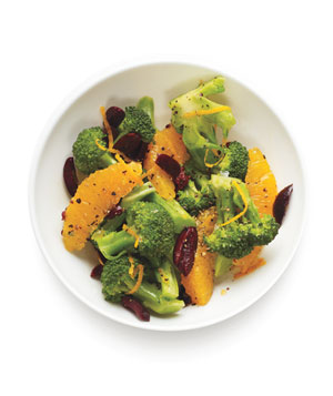 Broccoli, Orange, and Olive Salad