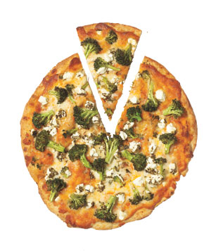 Broccoli and Goat Cheese Pizza