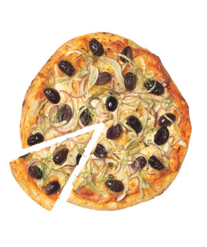 Fennel, Olive, and Onion Pizza