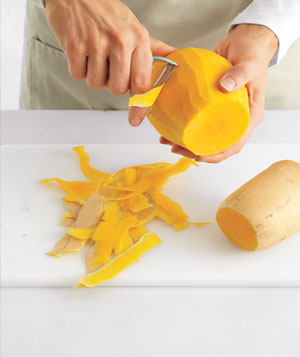 How to peel, seed and slice a butternut squash, Step 1