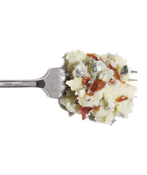 Mashed Potatoes With Bacon and Blue Cheese
