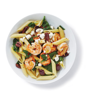 Pasta With Shrimp and Spinach
