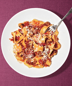 Beef and Mushroom Ragù With Pappardelle