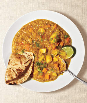 Red Lentil Curry, one of RS's great lentil recipes
