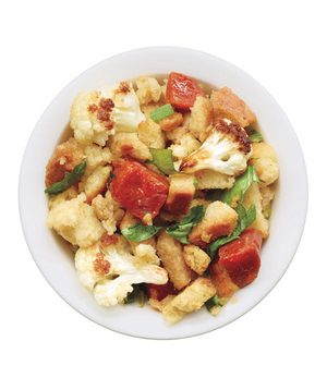 Stuffing With Cauliflower, Chorizo, and Parsley