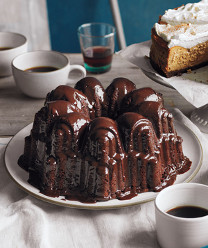 Glazed Triple-Chocolate Pound Cake