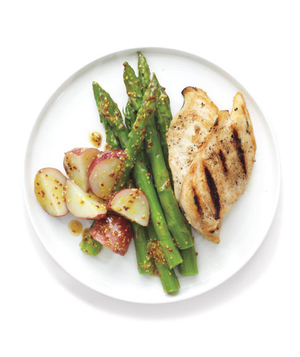 Grilled Chicken and Spring Vegetables
