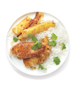 Jerk Chicken With Seared Pineapple