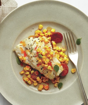 Fish, Corn, and Chorizo Grill Packets