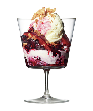 Plum and Blackberry Crumble Sundae